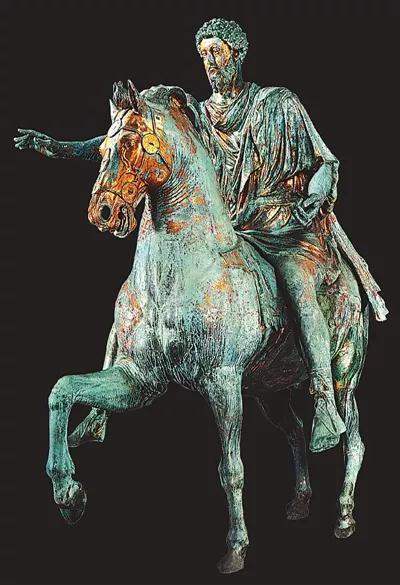《奥利留斯骑马像》,约175年,青铜,高约3.5米,意大利罗马卡比托奈博物馆藏