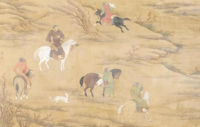 (明)佚名·骑马狩猎图(克里夫兰艺术博物馆)