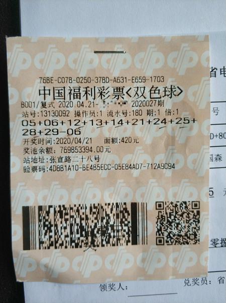 飯店老板攜5位友人中福彩1009萬 兌獎后均分獎金