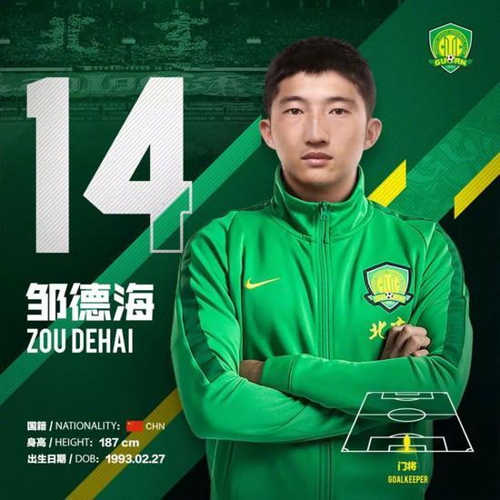 邹德海出身于绿城青训,曾效能于浙江绿城俱乐部,曾入选国奥队、国家二队。