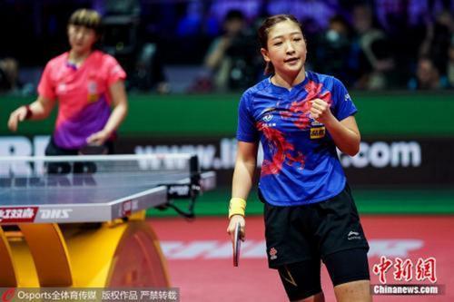 刘诗雯在比赛中