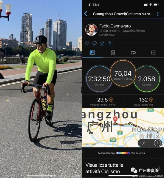 年初一!卡纳瓦罗骑行75公里 高拉特健身室挥汗