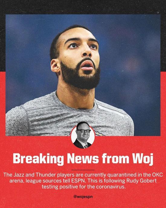 戈贝尔确诊新冠,NBA宣布停摆