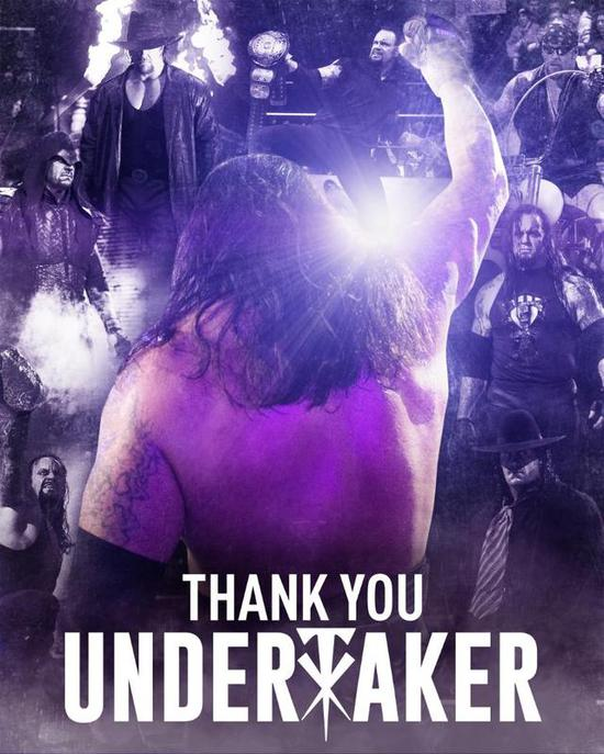 """WWE对""""送葬者""""表示感谢。图/社交媒体"""