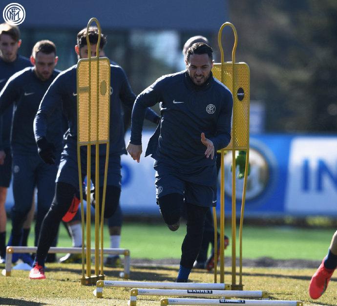 国米训练备战欧冠