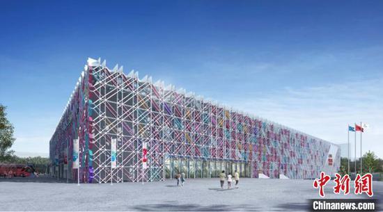 五棵松冰上运动中心效果图。 北京市重大办供图