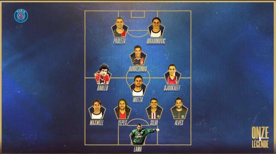 姆巴佩评选巴黎队史最佳阵容:小罗伊布当选