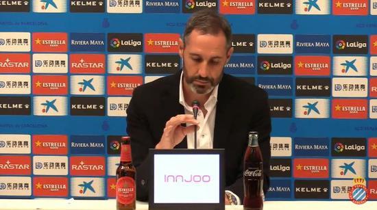 西班牙人主帅莫雷诺:我们的体现比奥萨苏纳更好