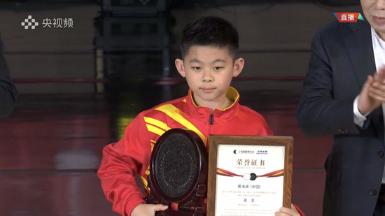 赤壁青砖茶杯世界青少年赛 黄海承获儿童组冠军