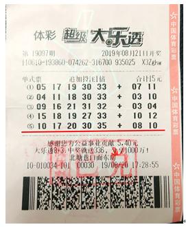 旅游資金更足了!老彩民購彩20載攬大樂透370萬