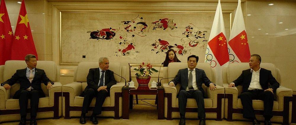 李建明副局长接见国际马联英格玛主席一走