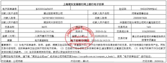 【博狗体育】河南建业捐款1000万元 支援新冠肺炎疫情阻击战