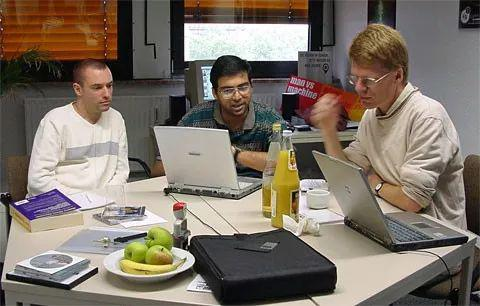 Anand with Matthias Wüllenweber, co-founder of ChessBase