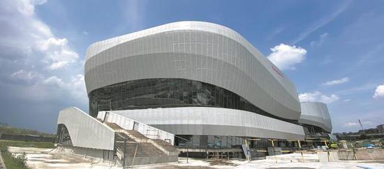 大运会乒乓球场馆雏形初现 年底将竣工验收