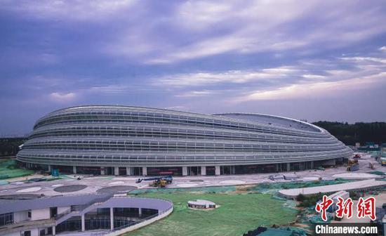 国家速滑馆外观图。 北京市重大办供图
