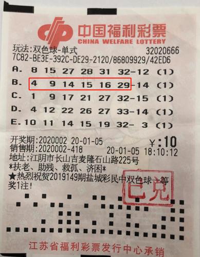 資深彩民10元擒雙色球12萬:拿獎金過個富足年-票