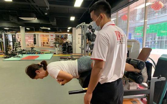 刘诗雯康复训练。图/社交媒体