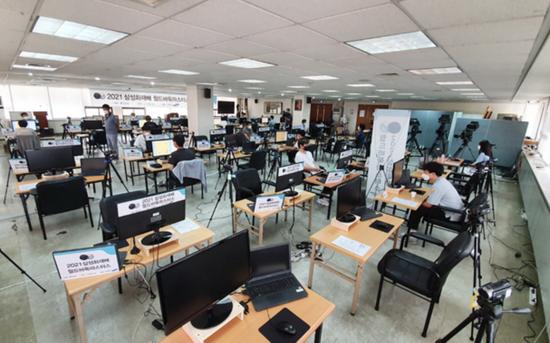 ▲这是举行国内选拔赛的韩国棋院2楼大会场。