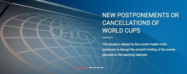 国际体联:体操全能世界杯赛德国斯图加特站宣布取消!
