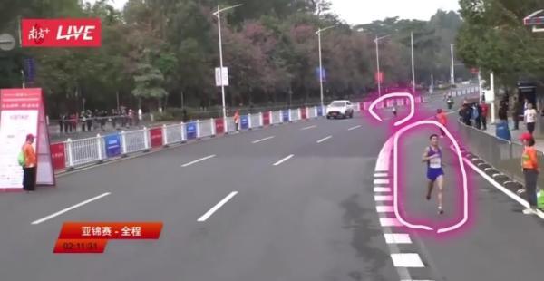 朝鲜选手跑错了线路
