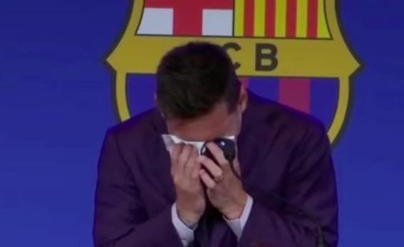 梅西哭了!刚抵达发布会就落泪 情难自已