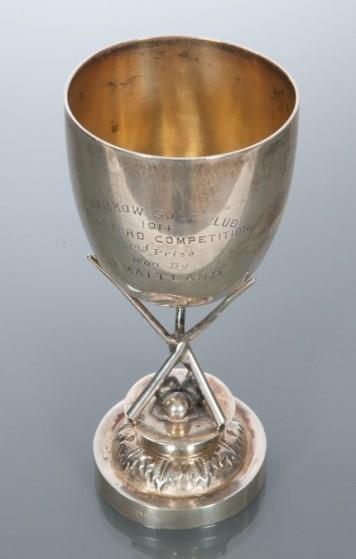 1914年汉口高尔夫俱乐部台球赛奖杯