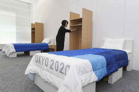东京奥运村纸板床或用作新冠病床 提供给方舱医院