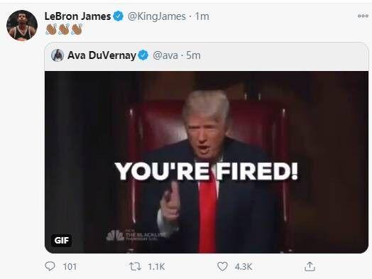 特朗普竞选失败詹姆斯嘲讽3连 扬言带酒去白宫