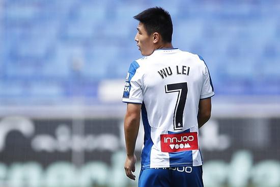 当地时间7月12日,武磊在西甲赛场上。视觉中国供图