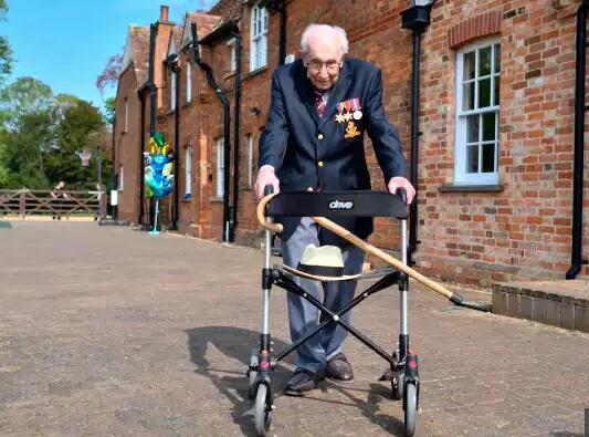 英国著名抗疫老兵去世 享年百岁 贝克汉姆致敬(www.ln-tgzx.com)