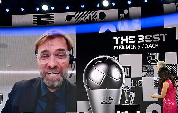 克洛普成蝉联FIFA年度教练第一人:我要感谢这些人