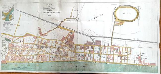 1910年汉口租界规划图(杰拉德-科塞恩提供)