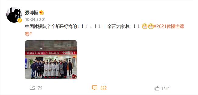 张博恒:中国队个个都是好样的 陈一冰:小将出色