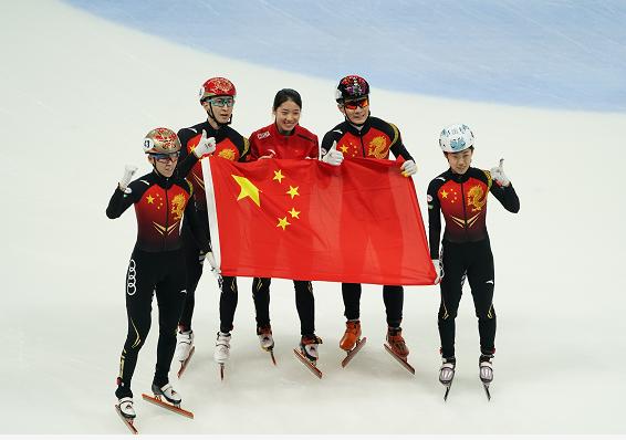 中国短道夺世界杯混合接力冠军 荷兰韩国二三名