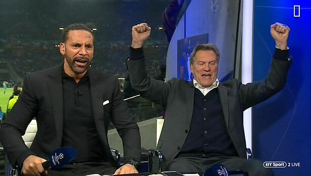 疯了!都疯了!演播室嘉宾抱成一团 冒死在庆祝!