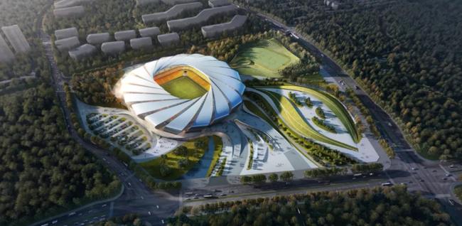 重庆龙兴专业足球场正式动工 23年亚洲杯主办场地