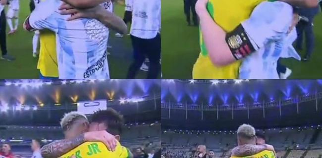 【博狗体育】内马尔哭成泪人!梅西长时间与他拥抱表示安慰