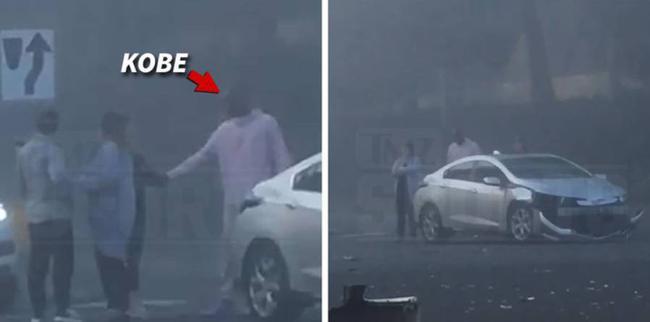 【影片】熱心市民Kobe先生!親眼目睹車禍之後,主動上前幫忙指揮交通!-籃球圈