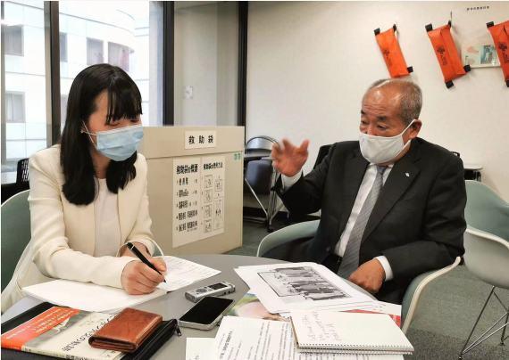 小田悠祐接受新华社记者专访