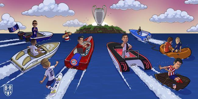 欧冠16强晋级一览:皇马小组第二出线 尤文第一