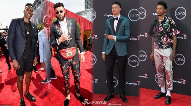 NBA众星帅气亮相ESPY颁奖礼红毯