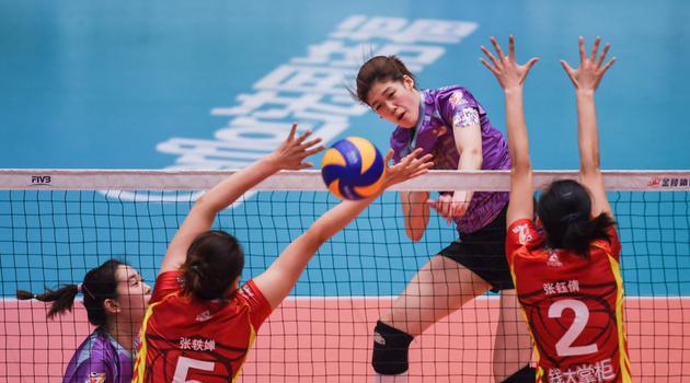 排超八强战天津女排3-0上海女排