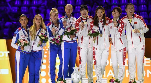 击剑世锦赛中国女重团体夺冠