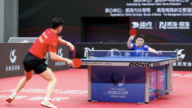 世界杯决赛,樊振东精彩的最后一分。