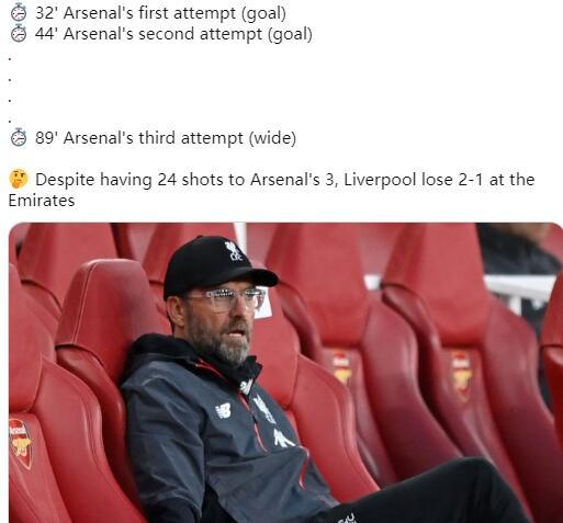 利物浦懵圈了!被阿森纳3脚踹飞 没见过这么赢的