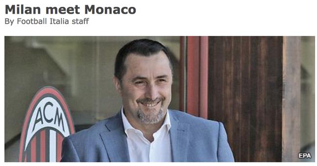 3500万欧元 摩纳哥买AC米兰前锋 C罗看好的男人