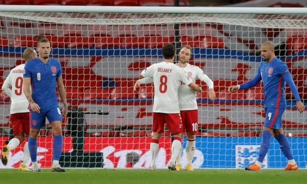 欧国联-前热刺核心点杀 2人红牌英格兰主场负丹麦