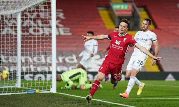 若塔进球,利物浦2-0