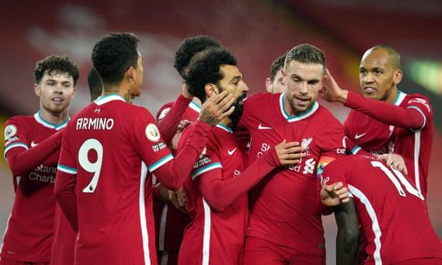 利物浦4-0联赛主场全胜