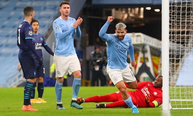 欧冠-阿圭罗复出进球 斯特林破门 曼城3-0完胜